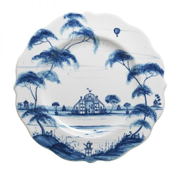Country Estate Delft Blue Salad Plate Conservatory