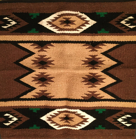 Saddle Blanket Navajo Zapotec Brown