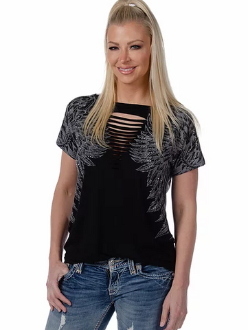 Liberty Wear Collection Top Rise Above Black