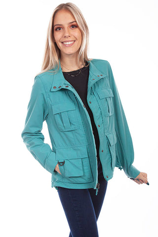 Scully Ladies' Farthest Point Multi Pocket Jacket Teal
