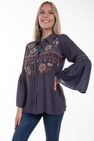 Scully Honey Creek Floral Embroidered Tunic