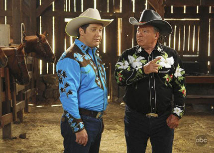 Two Rockmount Fans: James Spader and William Shatner from an episode of Boston Legal.