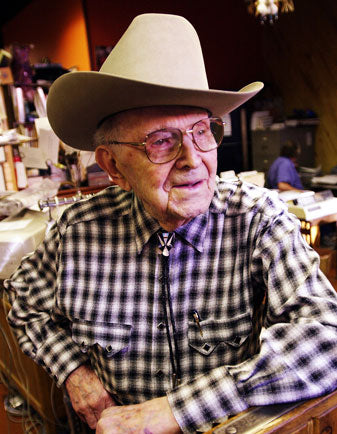 "Everything looks good on Papa Jack including this Rayon Plaid #6402 Rockmount Ranch Wear's Founder Jack A. Weil, ""Papa Jack"" 1901-2008"