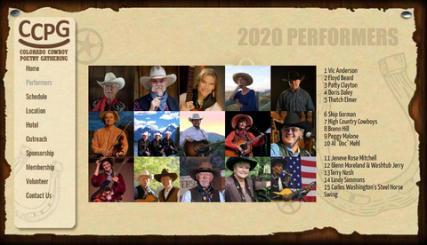 Colorado Cowboy Poetry Gathering 2020