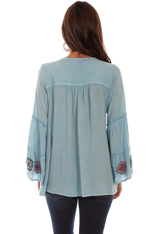 Women's Honey Creek Folklore Inspired Embroidered Pullover Back