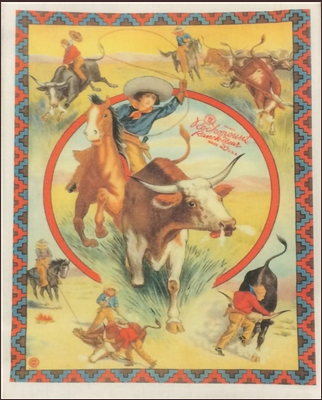 Roping Cowgirl Tea Towel