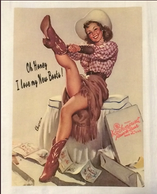 Cowgirl Oh Honey I Love My New Boots Tea Towel