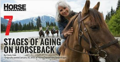 7 Stages of Aging on Horseback