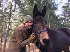 Robert Eversole with Icelandic Mule