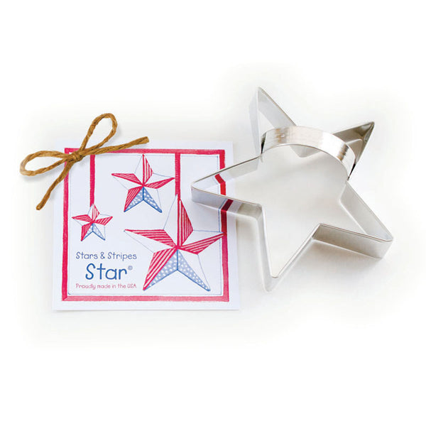 Ann Clark Cookie Cutter Stars and Stripes with Recipe Card #1501064