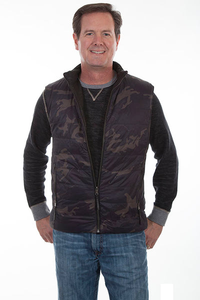 Men's Leather Vest Collection: Scully Reversible Ribbed