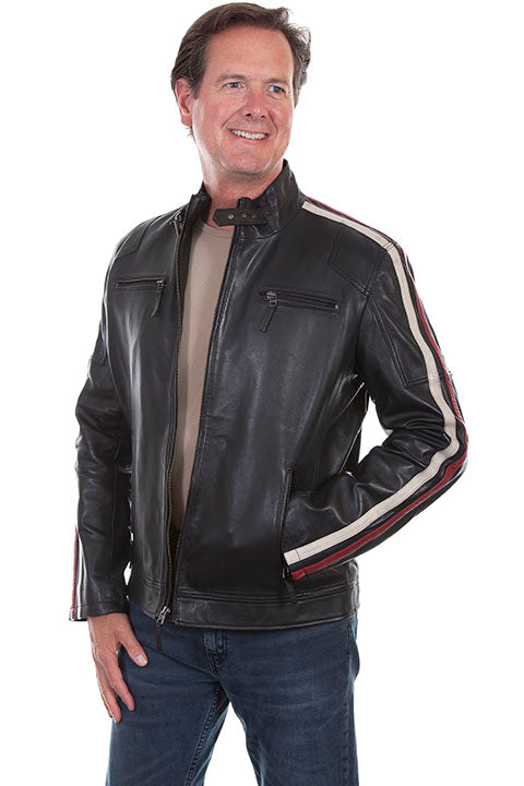 Scully Men's Lamb Leather Motorcycle Jacket Front