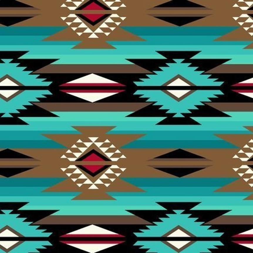 Rockmount Ranch Wear Blanket Turquoise Pattern