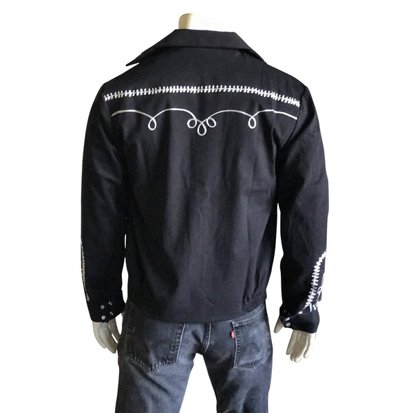 Vintage Inspired Western Jacket Mens Rockmount Ranch Wear Bolero Front