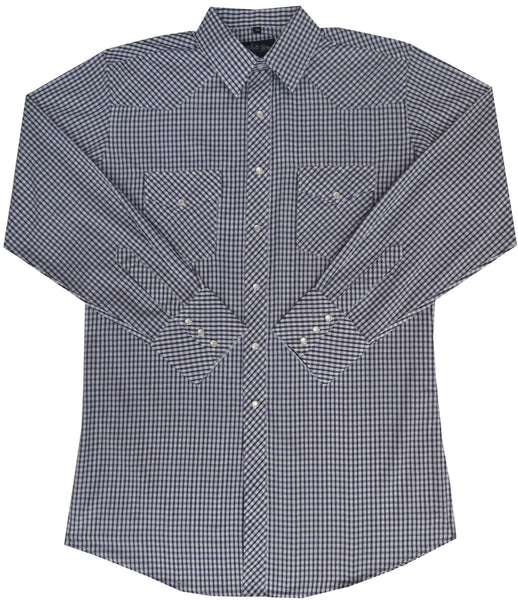 White Horse Apparel Men's Western Shirt Navy Blue Black