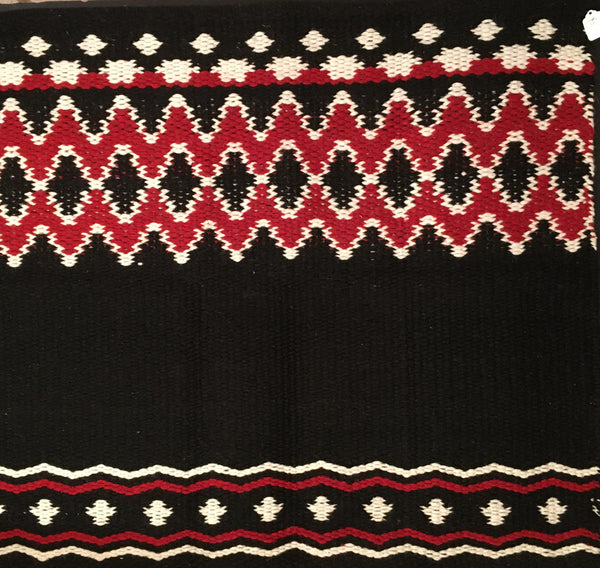 Navajo Saddle Blanket Black, Red, White