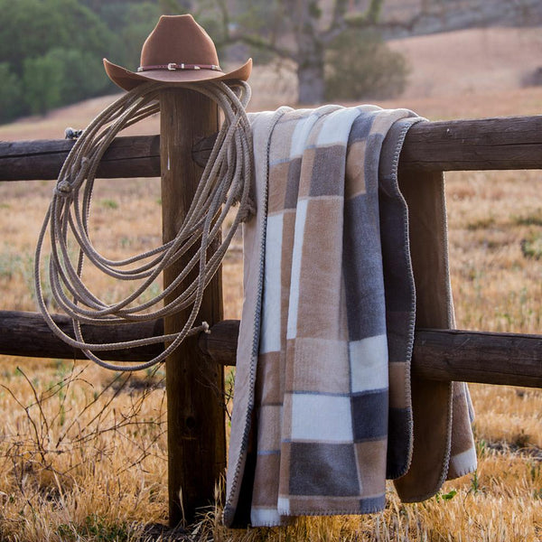 Denali gray plaid blanket 60x72