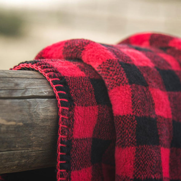 Denali Blanket Red Black Check