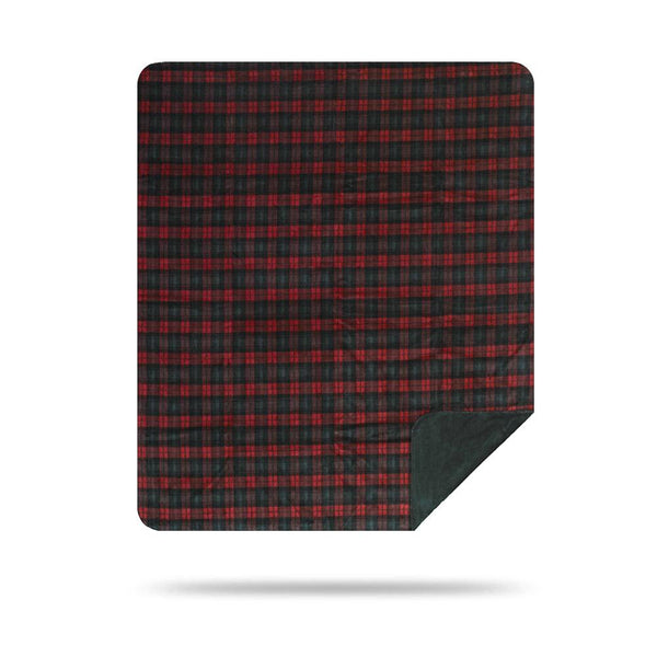 Denali Blanket Red Green Plaid 60x72