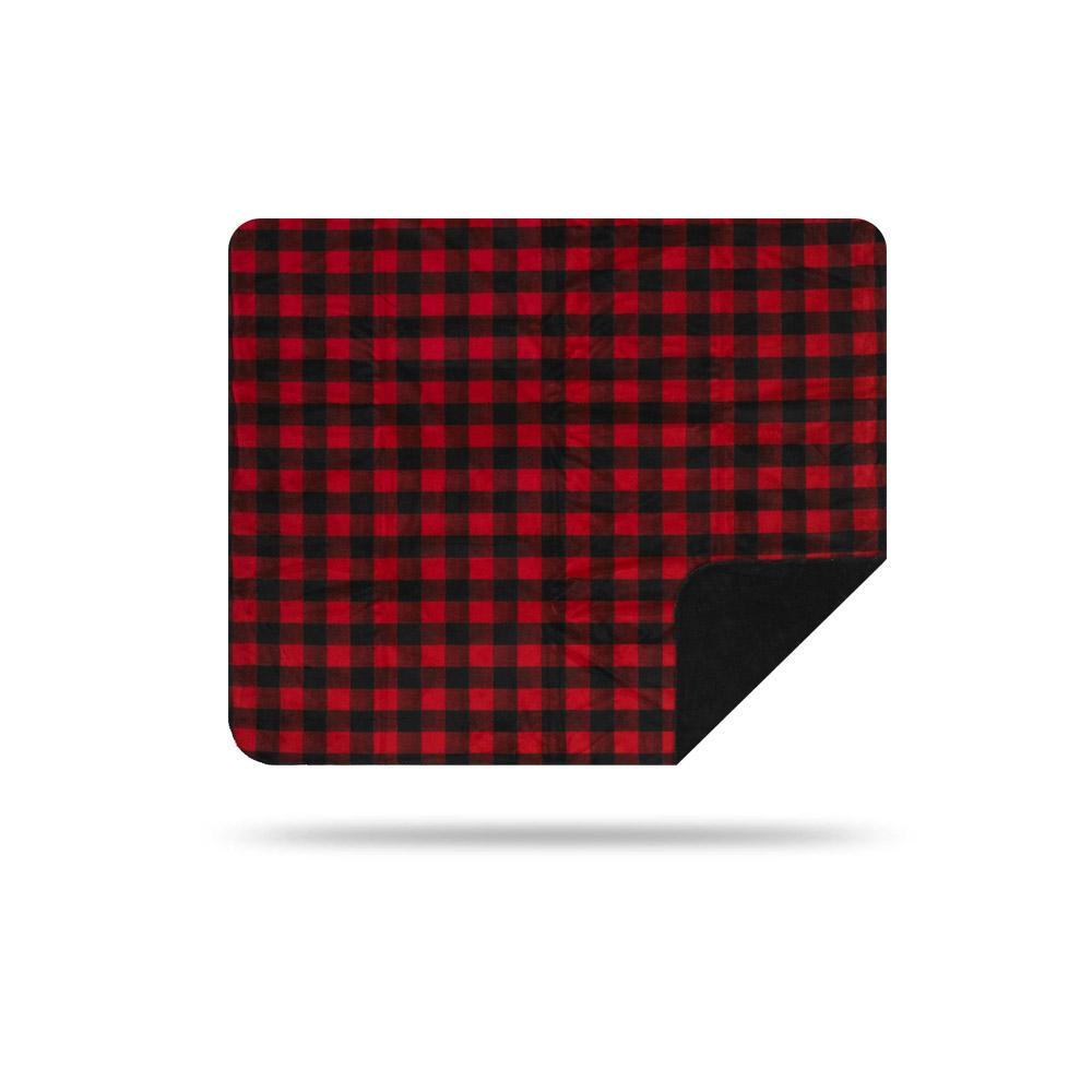 Denali Red Black Plaid Throw 60x50