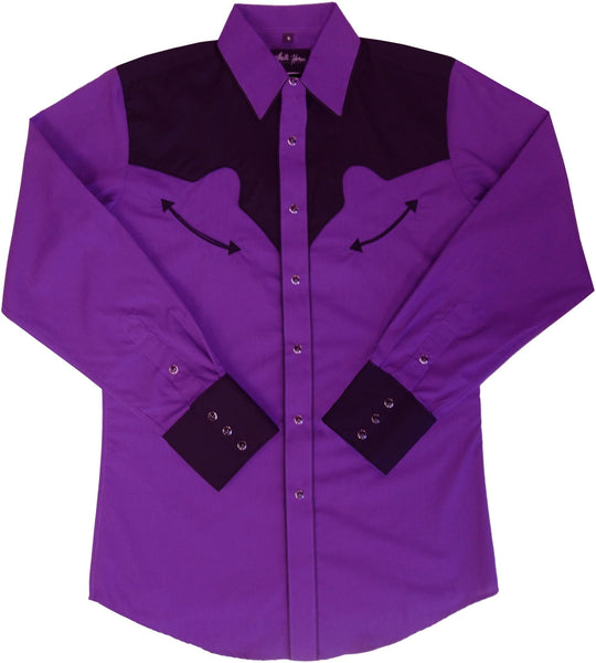 White Horse Men's Purple and Black Shirt