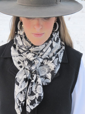 Cowboy Images Accessory: Example of Scarf on Model