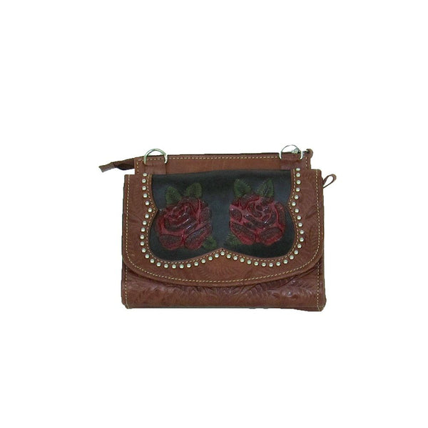 American West Handbag Roses Are Red Collection: Western Crossbody