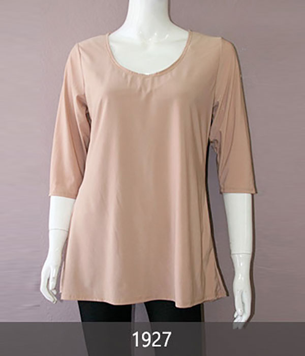 Ladies' Fantazia Apparel 3/4 Sleeve Top Body Silhoutte Front