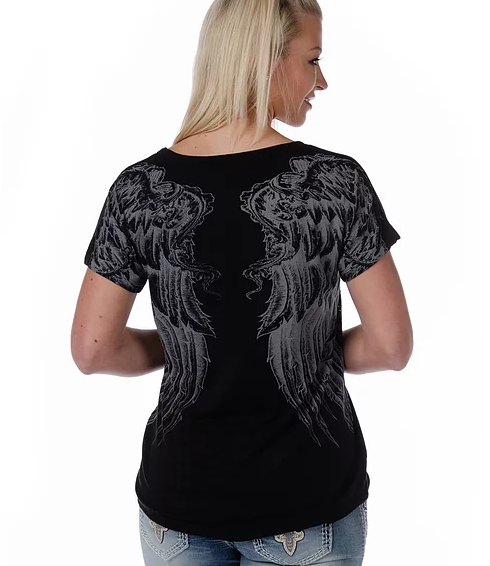 Liberty Wear Rise Above Top Black Front #117626