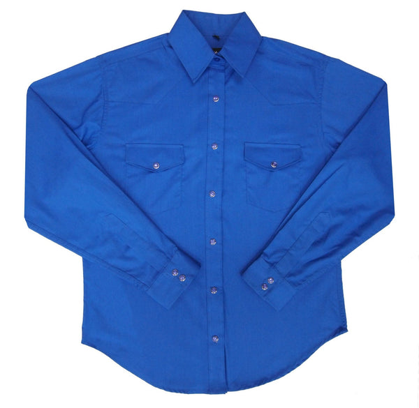 White Horse Apparel Women's Western Shirt Royal Blue