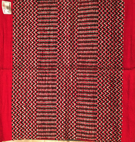 Saddle Blanket Red Black White