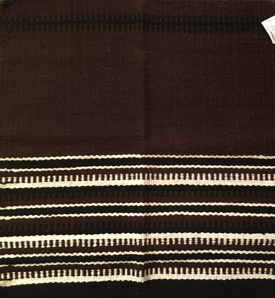 Saddle Blanket Brown With Black and Ivory Design