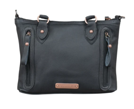 American West Handbag Hair on Hide Satchel Back