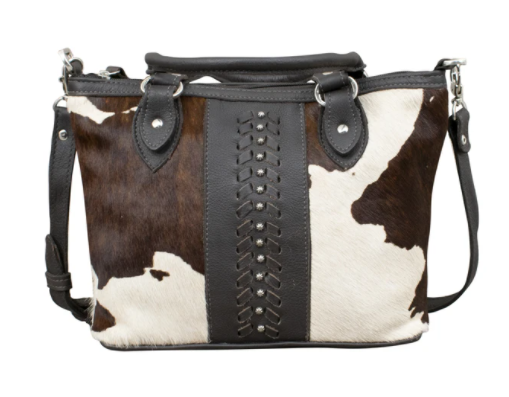 American West Handag Pendleton Pony Collection: Leather Zip Top Shoulder Satchel