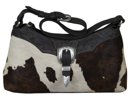 American West Handbag Pony Hair On Shoulder Bag Front
