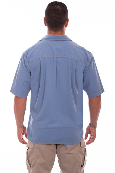 Farthest Point Collection Traveler Short Sleeve Citadel Blue Front