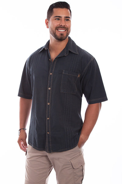 Farthest Point Collection Traveler Short Sleeve Gun Metal Front