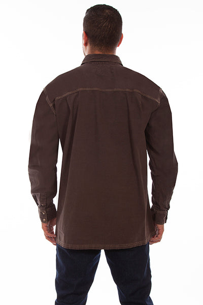Scully Men's Farthest Point Outdoor Shirt Chocolate Front
