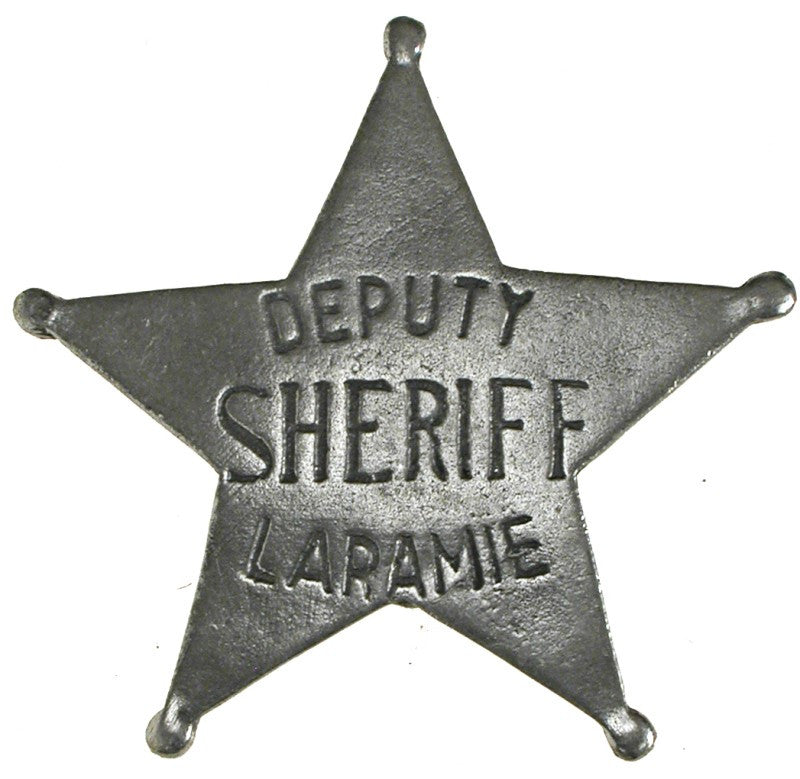 Historic Replica Badge Deputy Sheriff Laramie Star Front