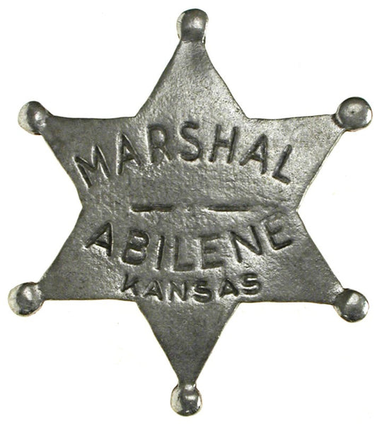 Historic Replica Badge Marshal Abilene Kansas Star Front