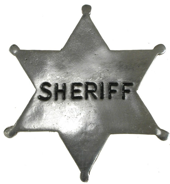 Old West Historic Replica Badge: Sheriff Star