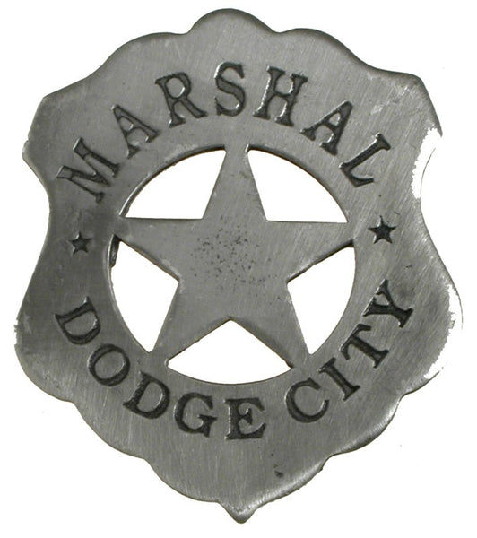 Historic Replica Badge Marshal Dodge City Front