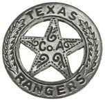 Historic Replica Badge Ornate Texas Rangers Star Front