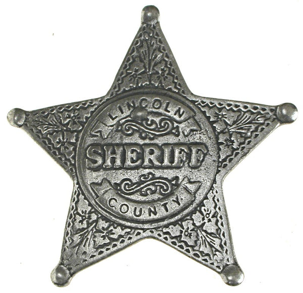 Historic Replica Badge Lincoln County Sheriff Star Front