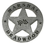 Historic Replica Badge Marshal Deadwood Front