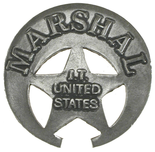 Historic Replica Badge Marshal Indian Territory Front