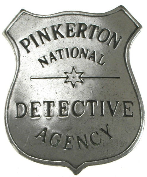 Historic Replica Badge Pinkerton National Detective Agency Shield Front