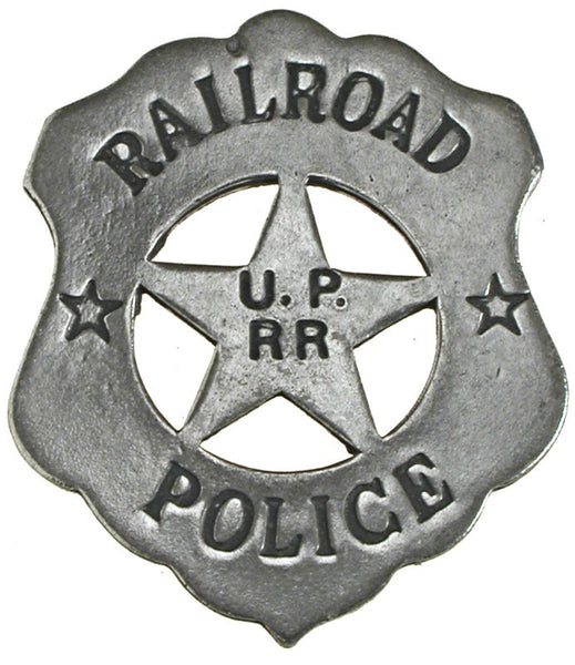 Historic Replica Badge Railroad Police U.P. RR Front