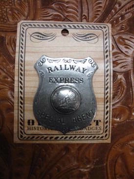 Historic Replica Badge Railway Express Special Agent
