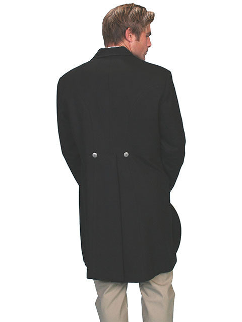 Mens Scully Old West Wahmaker Traditional Frock Coat Metal Buttons Back